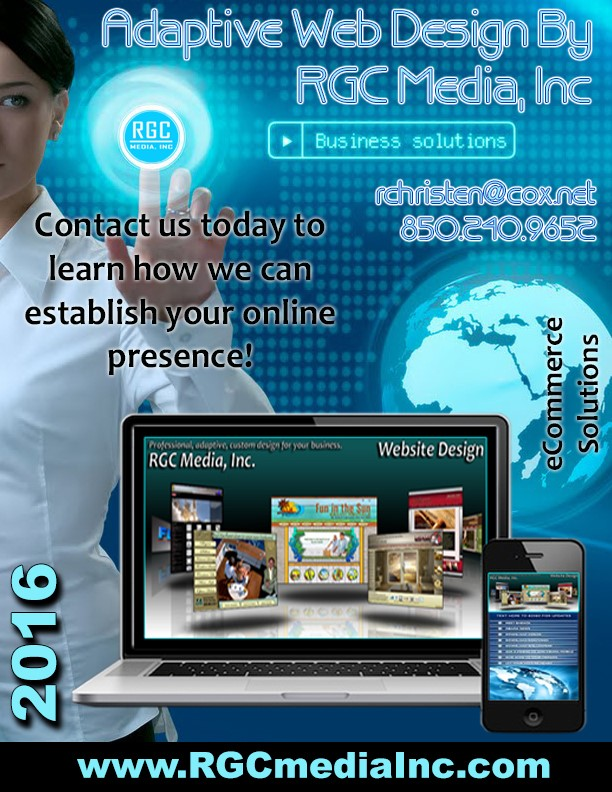 Brochure, flyer, and print media design on the Emerald Coast