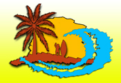 Fun in the Sun Beach Rentals Custom Company Logo designed by RGC Media, Inc.
